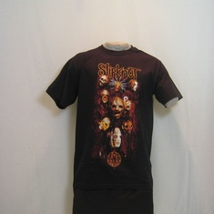 t-shirt slipknot heads orange