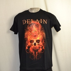 t-shirt delain fire with fire