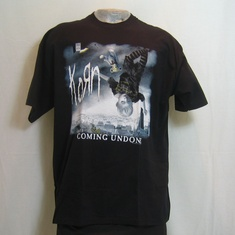 t-shirt korn becoming undone
