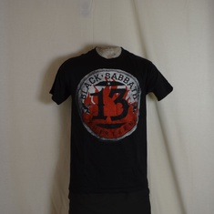 t-shirt black sabbath flame circle