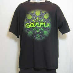 t-shirt soulfly multiple logo