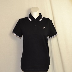 dames polo fred perry zwart g3600-321