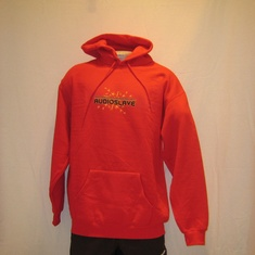 hooded sweater audioslave rood