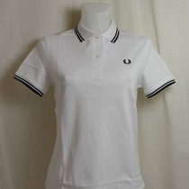 dames polo fred perry wit g3600-200