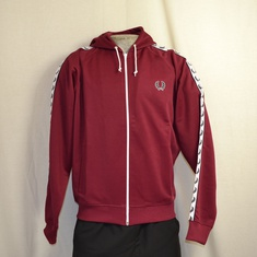 hooded trainingsjack fred perry maroon