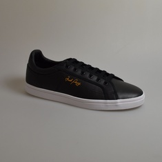sneaker fred perry retro tennis leather zwart