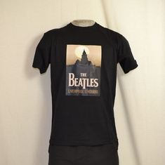 t-shirt beatles liverpool zwart