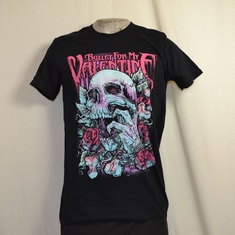 t-shirt bullet for my valentine skull red eyes