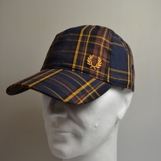 pet fred perry tartan hw7643-963 midnight blue