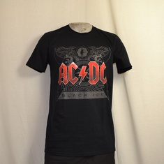 t-shirt acdc black ice zwart logo