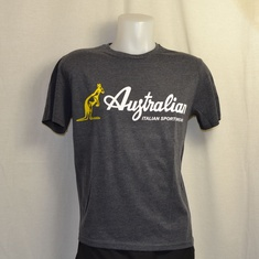 t-shirt australian stamp antracite