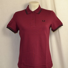 dames polo fred perry g3600-a27 twany port