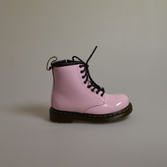 dr martens brooklee baby pink patent