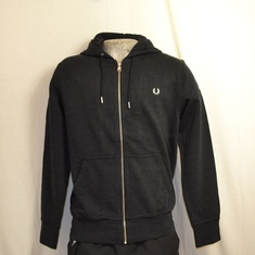 hooded vest fred perry zwart j6314-102