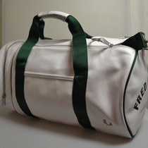 classic barrel bag fred perry wit groen l8310