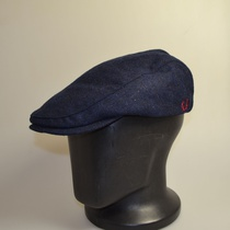 fred perry boiled wool flat cap navy