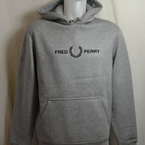 hooded sweater fred perry m7520-420 grijs