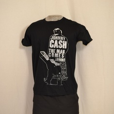 t-shirt johnny cash silhouette