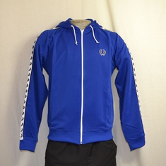 hooded trainingsjack fred perry blauw