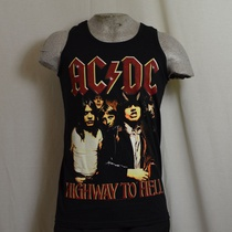 tank top acdc highway to hell zwart
