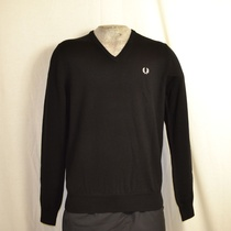 classic v neck sweater zwart k7210-102