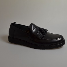 loafers fred perry george cox zwart