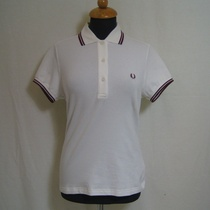 polo dames fred perry snow white g1821-129