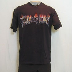 t-shirt cradle of filth flames