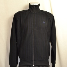 trainingsjack fred perry j2530-102 pinstripe zwart